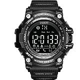 GuDoQi Digital Sportuhr Intelligente Bluetooth 4.0 LED Uhr Unterstützung Anruf Und SMS Erinnerungsschrittzähler Wasserdichte Uhr Schwarze Farbe