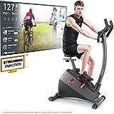 Sportstech Vélo d'Appartement ergomètre ESX500, Vidéos Live et multijoueur APP + écran 5,5', Poids d'inertie 12KG, Compatible avec...