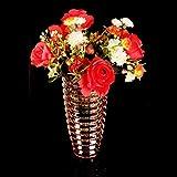 C&S Verdickung Bunte Kristallglasvase Europäischen Stil Wohnzimmer Glasflasche Trockene Blume Dekoration Wasser Kultur Vase