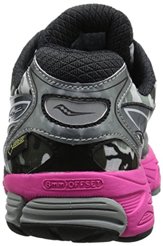 Saucony Women's Ride 8 Gtx Running Shoe,White/Black/Pink,5.5 M US White/Black/Pink