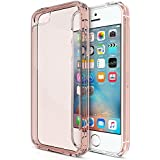 MOFRED® New Apple iPhone SE Slim Rose Gold Silicone Gel Case Cover WITH Anti-Scratch Protection AND Shock Absorption Technology for iPhone SE (Released March 2016) (Rose Gold)