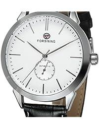 Los hombres de moda reloj de pulsera lujo Automático Mecánico relojes piel banda