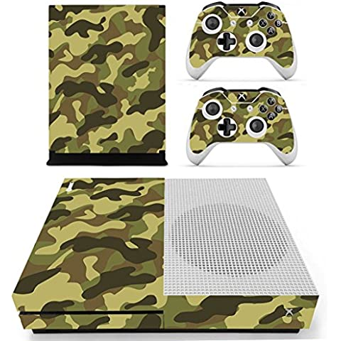 DOTBUY Vinile modello skin sticker decalcomanie della pelle per Xbox One S Console & Wireless Controller (Camouflage Green)