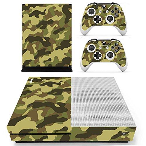 DOTBUY Xbox ONE S Design Folie Vinyl Aufkleber für Konsole + 2 Controller + Kamera Skin Sticker Set (Camouflage Green)