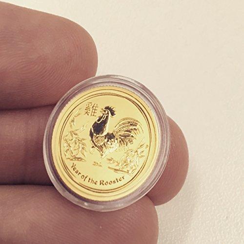 Goldmünze 1/10 Unze - LUNAR II 2017 Jahr des Hahn - 9999 Feingold - einzeln gekapselt