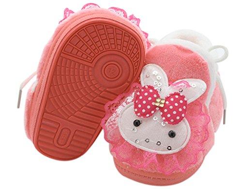 BONAMART ® Baby Junge Mädchen Karikatur Schuhe Anti Rutsch Winter Puschen 0-6M RoteBunny
