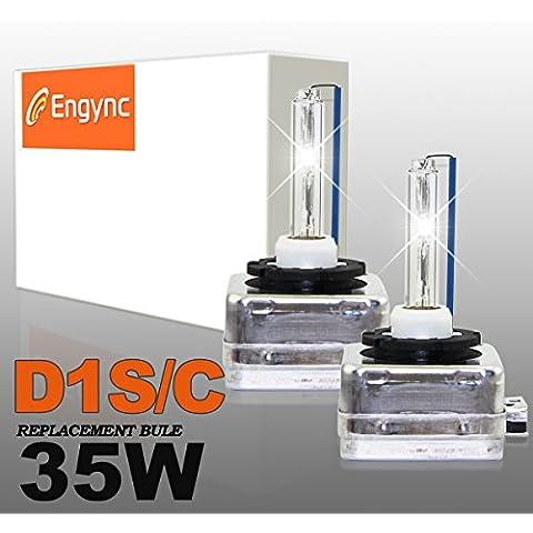 Engync® D1S OEM xenón HID bombillas de los faros (Pack de 2) | Alta / Baja Diamante Blanco / Hyper blanco / blanco puro de color (6000K)