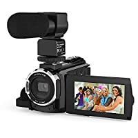 Andoer 4K 1080P 48MP WiFi Digital Video Camera Camcorder Recorder with 3inch Touchscreen 16X Digital Zoom