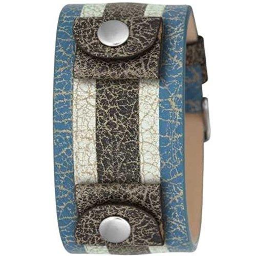 Fossil JR8372blau/Weiss Lederband-Uhr