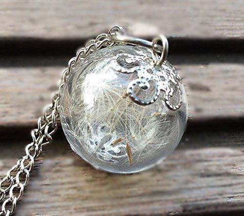 Dandelion Necklace Dreams Come True Necklace by D&A