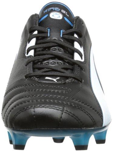 Puma King SL FG 102667, Scarpe da calcio uomo Nero (Schwarz (black-white-fluo blue 07))