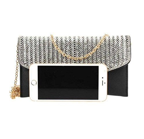 Strass Envelope Bag New Diamond Partito Del Braccialetto A Catena Sacchetto Del Pranzo Mini Bags RoseGold
