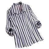 VEMOW Herbst Frühling Sommer Elegante Damen Frauen Stehkragen Langarm Casual Täglichen Party Strand Urlaub Lose Tunika Tops T-Shirt Bluse(X4-Dunkelgrau, EU-38/CN-S)