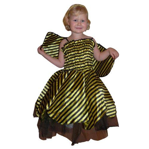 Gr. 5-6 Jahre, für Klein-Kinder, Babies, Bienen-Kostüme Biene Kinder-Kostüme Fasching Karneval, Kleinkinder-Karnevalskostüme, Kinder-Faschingskostüme, Geburtstags-Geschenk (Bienen-baby-kostüm)