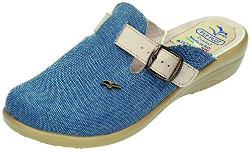 Fly Flot, Pantofole donna Blu Jeans Blu (Jeans)