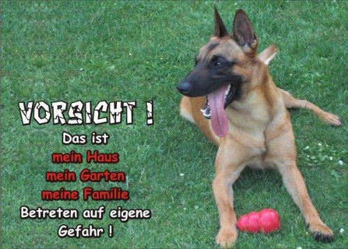 ild FunSchild - SE641 DIN A5 PVC 3mm stabil ACHTUNG Hund Öster. Pinscher - für Käfig, Zwinger, Haustier, Tür, Tier, Aquarium ()