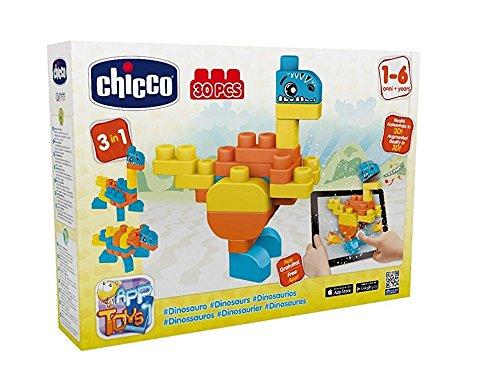 Chicco - Jeu De Construction - App Blocks - Dinosaures - 30 Pièces