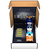 Gillette Fusion Pro-Shield Razor Blade Refills Plus Pro-Glide Sensitive Shave Gel Kit