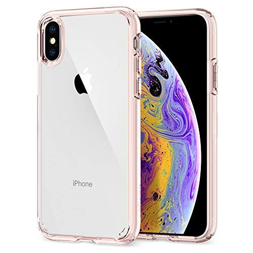 Spigen 057CS22128 Ultra Hybrid Kompatibel mit iPhone XS Hülle, iPhone X Hülle, Einteilige Transparent Durchsichtige Schutzhülle Case Rose Crystal
