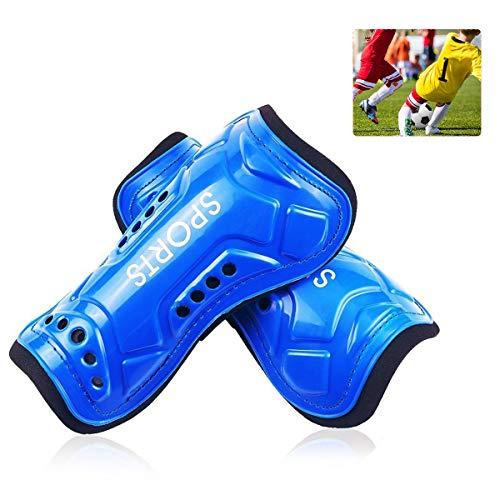 AUVSTAR Youth calcio parastinchi 1paio leggero e traspirante bambino vitello protettiva Gear Soccer attrezzature per 3 10anni per bambini