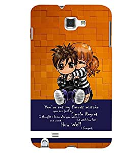 PRINTSWAG KIDS WITH QUOTE Designer Back Cover Case for SAMSUNG GALAXY NOTE 1 N7000