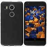 mumbi 12385 Schutzhülle (TPU Silikon Case, enormer Grip, schutz vor Staub, Dreck und Wasser geeignet für LG Google Nexus 5X) schwarz