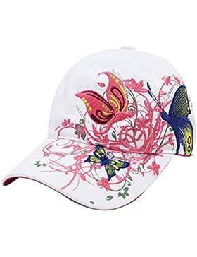 Belsen Mädchen Schmetterlings-Stickerei- Vintage Baseball Cap Snapback Trucker Hat