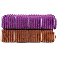 Casa Copenhague linea Cuello Zero Twist algodón 2 piezas baño Toallas ...