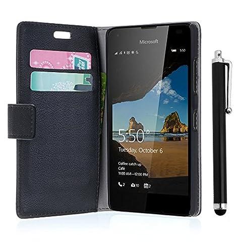 Etui Cuir Lumia 550 - zStarLn® nior Luxe Portefeuille Etui Housse pour