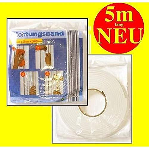 1a-becker Dichtungsband Kompriband 5m lang 15mm breit Fensterdichtung Türdichtung
