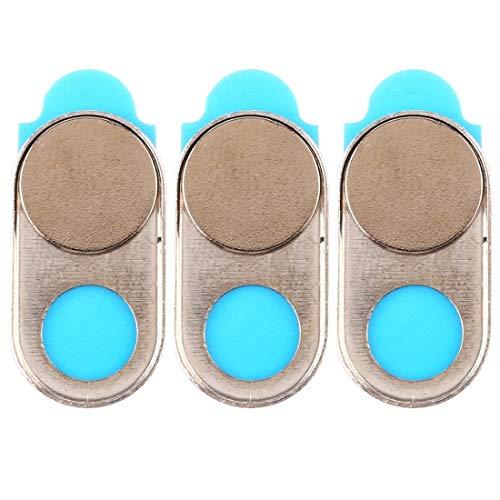 webcam cover, cubierta de cámara universal diseño imán ultra-delgada cubierta de cámara web, de escritorio, portátil, tablet, móviles (3 pcs) (color : gold)