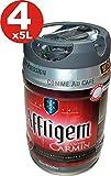 4 x Affligem Cuvée Carmín barril de 5 litros incl tambor. Espita 6,2% vol.