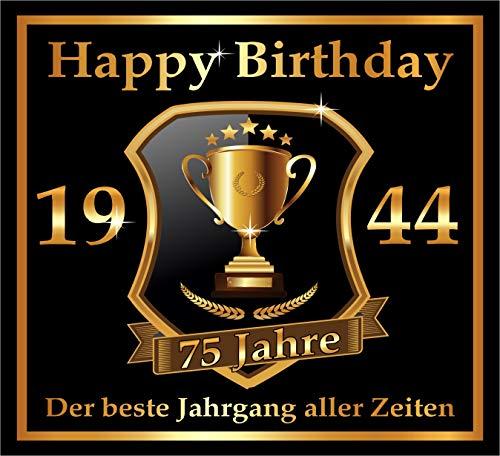 leber zum 75. Geburtstag: 1944 der Beste Jahrgang Aller Zeiten - Selbstklebendes Flaschen-Etikett. Original Design ()