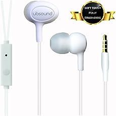 UBSOUND Smarter PRO - Cuffie Auricolari In-Ear ergonomiche (IEM) con Microfono - Connettore standard 3,5mm - Leggere e soft-touch - Cavo anti-nodi - Garanzia 2 anni - BIANCO (klim finishing)