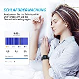 Mpow Smartwatch Wasserdicht IP68 Smart Watch Uhr mit Pulsmesser Fitness Watch Bluetooth Smartwatch Fitness Tracker Intelligente Armbanduhr mit Schrittzähler Schlaf-Monitor Call SMS für Android iOS - 6