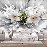 murando - Fototapete Blumen Lilien 400x280 cm - Vlies Tapete - Moderne Wanddeko - Design Tapete - Wandtapete - Wand Dekoration - 3D Abstrakt b-C-0213-a-a