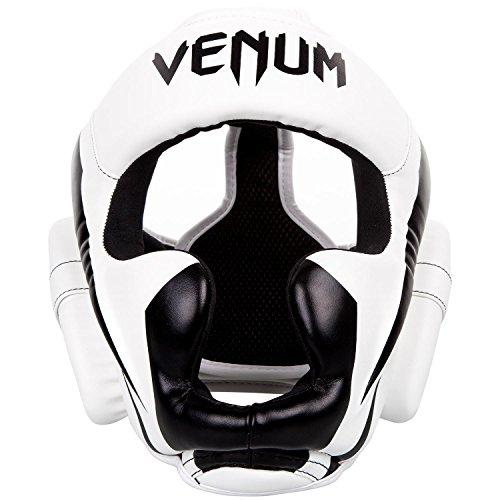 Venum Elite–Protector de Cabeza, Unisex, Color Blanco/Negro, tamaño Talla única