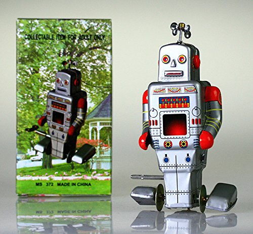 MS372 STEPPING ROBOT TIN TOY WIND UP VINTAGE REPRO NEW NURSERY POPULAR CHRISTMAS GIFT