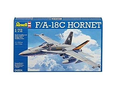 Revell Modellbausatz Flugzeug 1:72 - F/A-18C HORNET im Maßstab 1:72, Level 3, originalgetreue Nachbildung mit vielen Details, 04894 von Revell