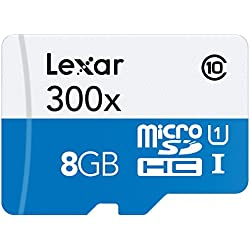 Lexar LSDMI8GBBBEU300 - Tarjeta microSD de 8 GB (con hasta 45 MB/s, Clase 10, UHS-I, velocidad de 300x)