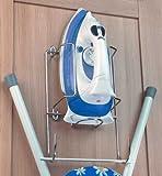 Iron & ironing board holder set