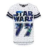 Star Wars - T-shirt baseball - Garçon (13-14 ans) (Blanc/Bleu)