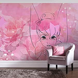 Digital wall mural disney 39 s pink 39 tink 39 tinkerbell with for Digital wall mural