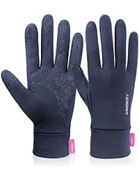 a1867446fdd503 coskefy Handschuhe Winter Herren Damen Laufhandschuhe Touchscreen Leicht  Linerhandschuhe Elastisch Sport Gloves Motorrad…