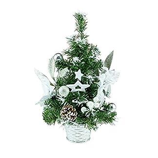 Strictly-Briks-Baum-305-cm-mit-silberfarbenem-Sockel-weie-Blumen-und-weien-Sternen-und-Blumenzwiebeln-305-cm