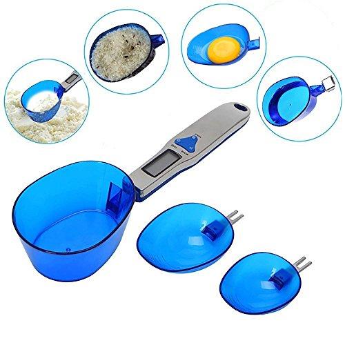 YepLife Échelle Électronique de Nourriture D'échelle de Cuisine de Digital avec 3 Cuillères de Mesure pour Le Lait de Portion, Thé, Farine, Épices, Médecine 500gram/0.1gram