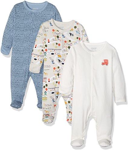 Mamas & Papas 3pk Town Sleepsuits, Pijama para Bebés (Pack de 3)