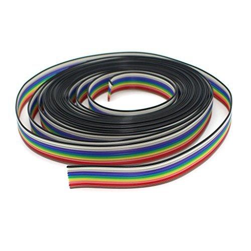 Cable de cinta plano Raogoodcx, de 5m, de arcoiris
