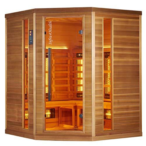 BP Infra 4 Health I-160 Infrarotkabine Sauna mit Zedernholz für 4 Personen