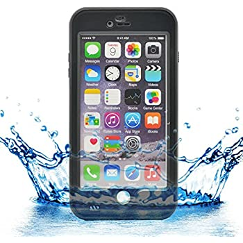 iprotect Apple iPhone 6 (4,7) wasserdichtes Outdoor Case Schutzhülle in schwarz